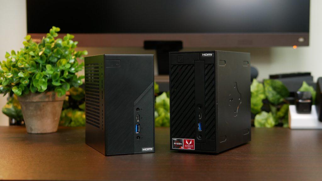 ASRock DeskMini X300とASRock DeskMini A300の正面比較